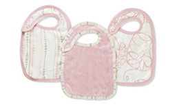 A+A BAMBOO SNAP BIBS 3 PACK TRANQUILITY