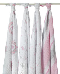 A+A CLASSIC MUSLIN SWADDLE 4 PACK FOR THE BIRDS