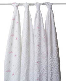 A+A CLASSIC MUSLIN SWADDLE 4 PACK LOVELY