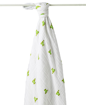 Aden + Anais Cozy Muslin Blanket- Mod About Baby Frog