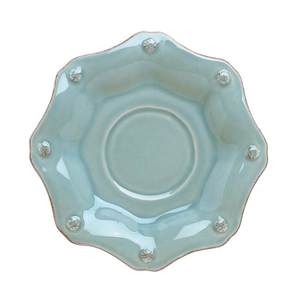 B&T ICE BLUE SCALLOP SAUCER