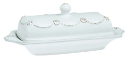 B&T WHITEWASH BUTTER DISH