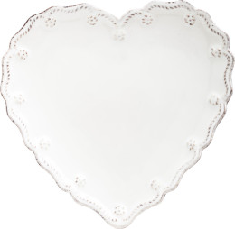 B&T WHITEWASH HEART COCKTAIL PLATE