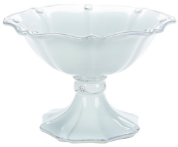 B&T WHITEWASH LG FOOTED COMPOTE