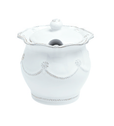 B&T WHITEWASH LIDDED SUGAR BOWL