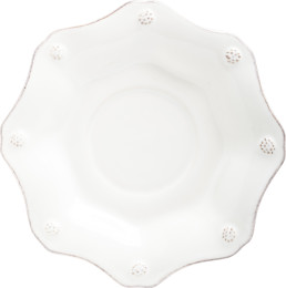 B&T WHITEWASH SCALLOP SAUCER