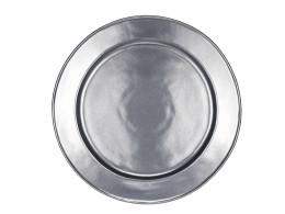 JULISKA PEWTER LARGE ROUND PLATTER