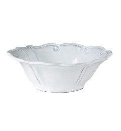 VIETRI INCANTO BAROQUE CEREAL BOWL WHITE