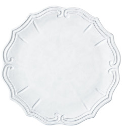 VIETRI INCANTO BAROQUE CHARGER WHITE