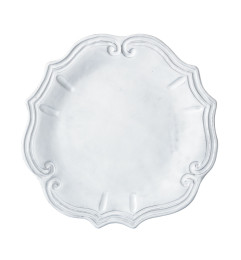 VIETRI INCANTO BAROQUE DINNER PLATE WHITE