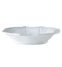 VIETRI INCANTO BAROQUE PASTA BOWL WHITE