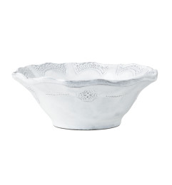 VIETRI INCANTO LACE CEREAL BOWL WHITE