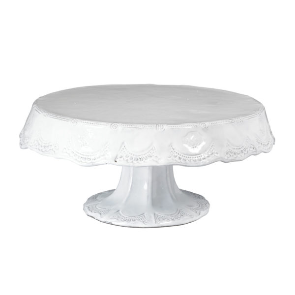 Vietri Incanto Lace Medium Cake Stand
