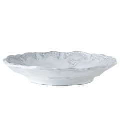 VIETRI INCANTO LACE PASTA BOWL WHITE