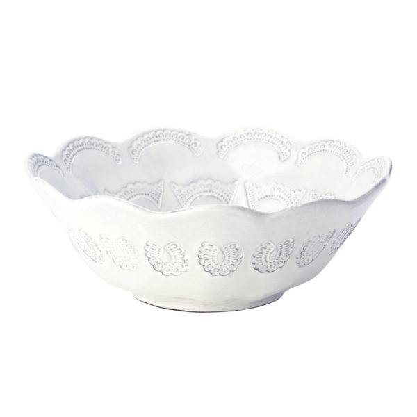 Vietri Incanto Lace Medium Serving Bowl