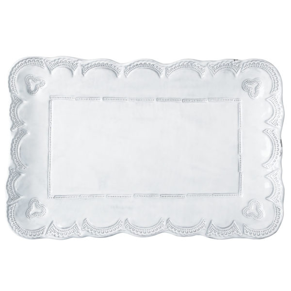 Vietri Incanto Lace Small Rectangular Platter
