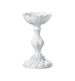 VIETRI INCANTO SMALL ROUND BASE CANDLEHOLDER WHITE