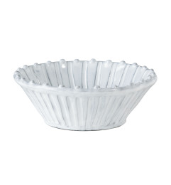 VIETRI INCANTO STRIPE CEREAL BOWL WHITE