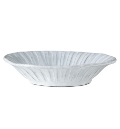 VIETRI INCANTO STRIPE PASTA BOWL WHITE