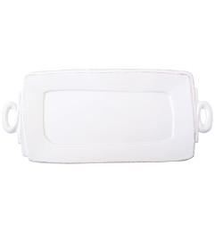 VIETRI LASTRA HANDLED RETANGULAR PLATTER WHITE