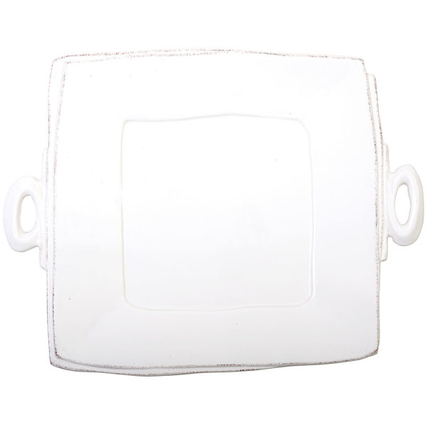 Vietri Lastra Handled Square Platter