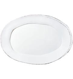 VIETRI LASTRA OVAL PLATTER WHITE