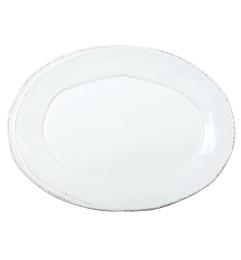 VIETRI LASTRA SMALL OVAL PLATTER WHITE