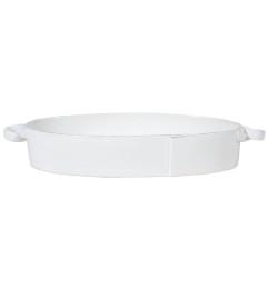 VIETRI LASTRA HANDLED OVAL BAKER WHITE