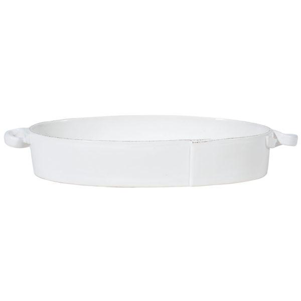 Vietri Lastra Handled Oval Baker
