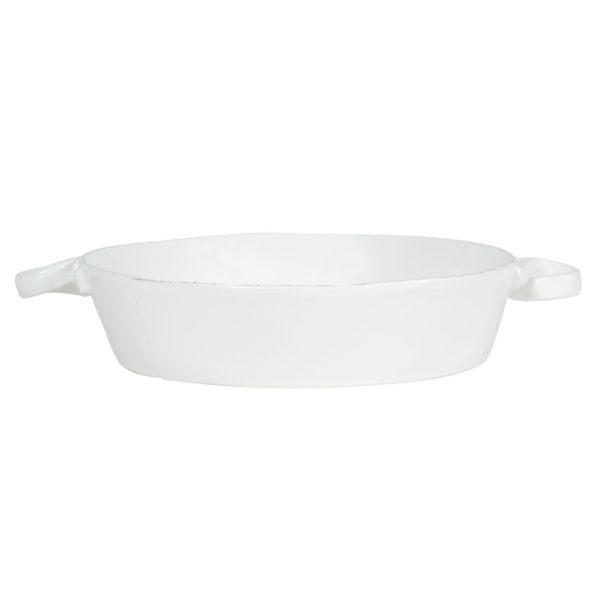 Vietri Lastra Handled Round Baker
