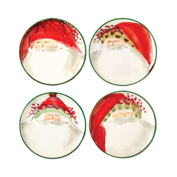 Vietri Old St. Nick Assorted Canape Plate – Set Of 4