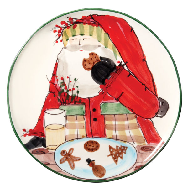 Vietri Old St. Nick Cookie Platter