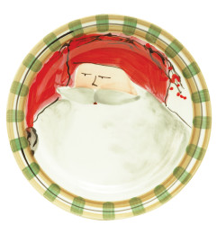 VIETRI OLD ST NICK DINNER PLATE RED HAT