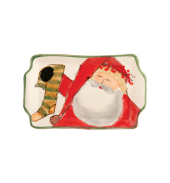 VIETRI OLD ST NICK SMALL RECTANGULAR PLATE