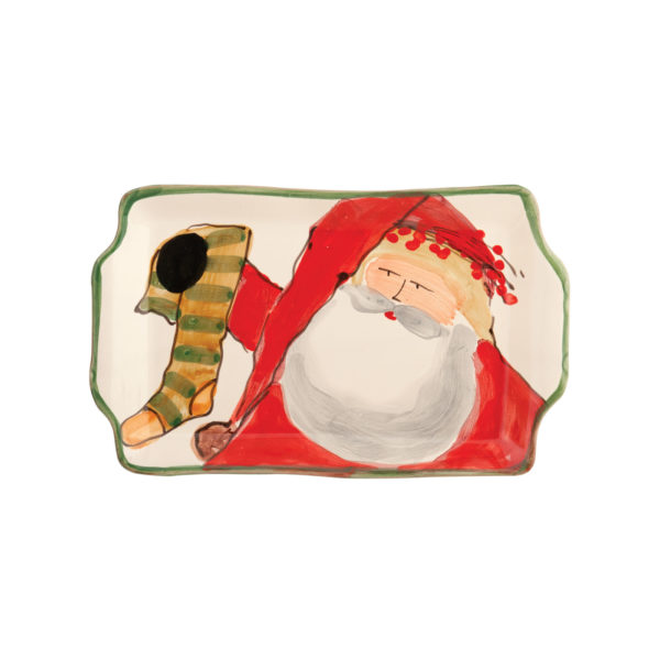 Vietri Old St. Nick Small Rectangular Plate