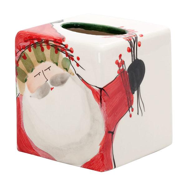 Vietri Old St. Nick Tissue Box
