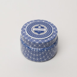 CAPRI BLUE PRINTED TIN VOLCANO