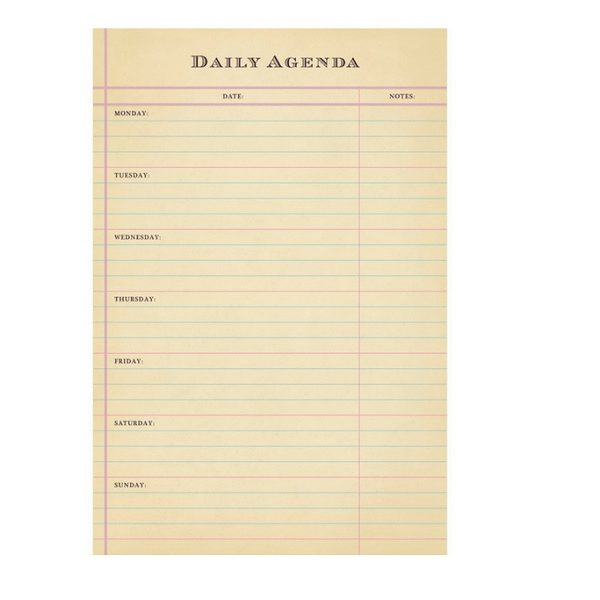 Sugarboo Daily Agenda
