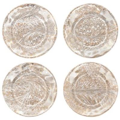 JULISKA FIRENZE MEDICI SET OF 4 COCKTAIL PLATES