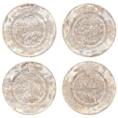 Juliska Firenze Medici Gold Cocktail Plate Set