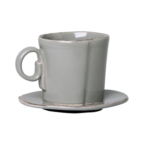 LASTRA ESPRESSO CUP AND SAUCER GRAY