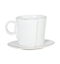 LASTRA ESPRESSO CUP AND SAUCER WHITE