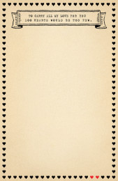 SUGARBOO 100 HEARTS NOTEPAD