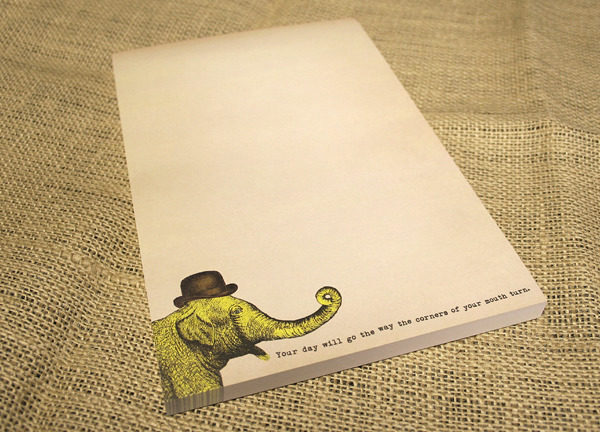 Sugarboo Elephant Notepad