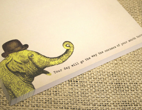 SUGARBOO ELEPHANT NOTEPAD CLOSE