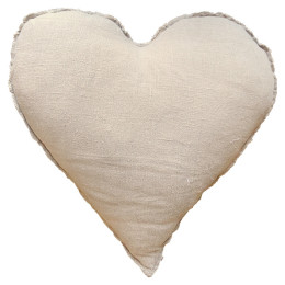SUGARBOO PILLOW HEART SHAPED WITH FRAYED EDGES