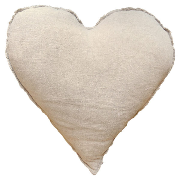 Sugarboo Pillow- Heart Shaped With Frayed Edges