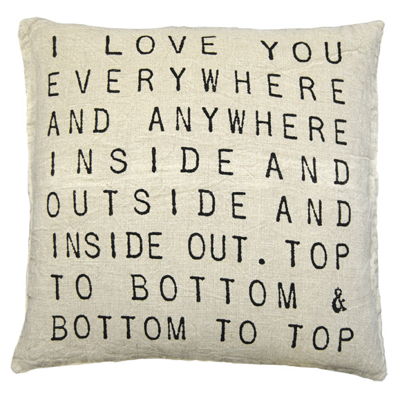Sugarboo Pillow- I Love You Everywhere