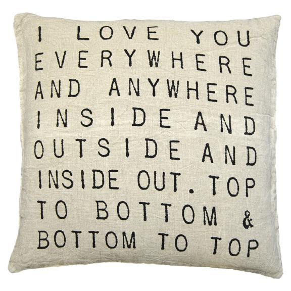 Sugarboo Pillow- I Love You Everywhere