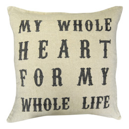 SUGARBOO PILLOW MY WHOLE HEART SCRIPT